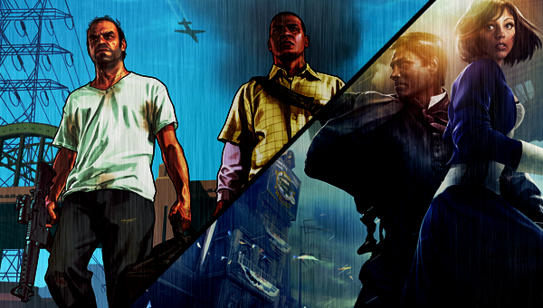 EvdWV over GTA V en Bioshock Infinite