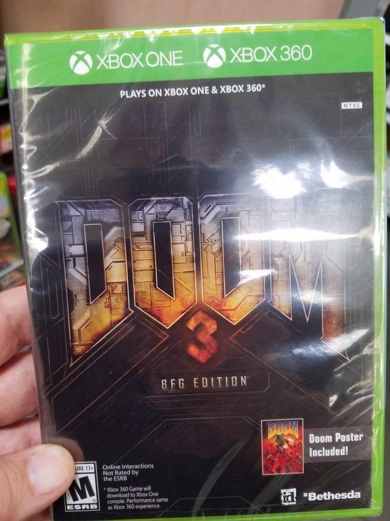Doom 3 Xbox One-verpakking