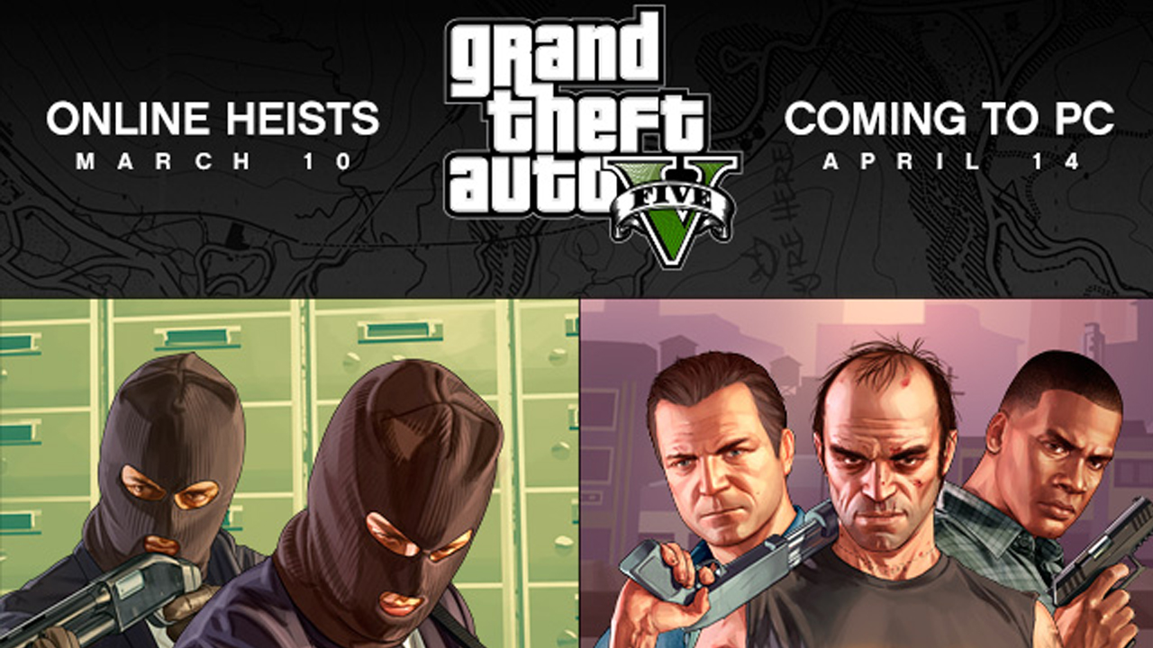 Gta v heists online release date