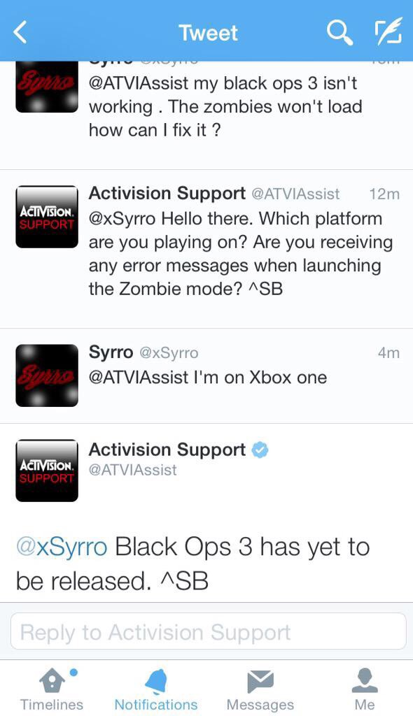 Activision Support spreekt van Call of Duty: Black Ops 3 ...