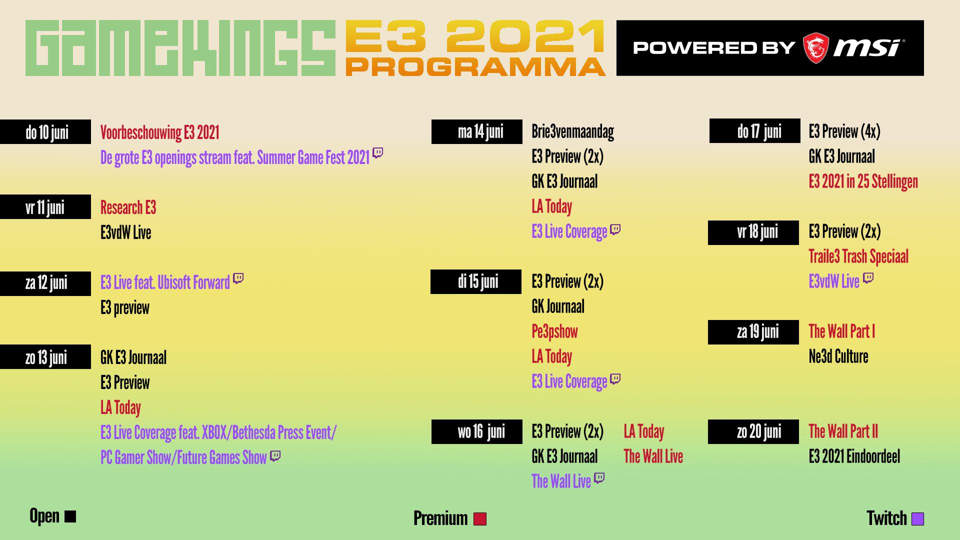 Gamekings E3 2021 Planning